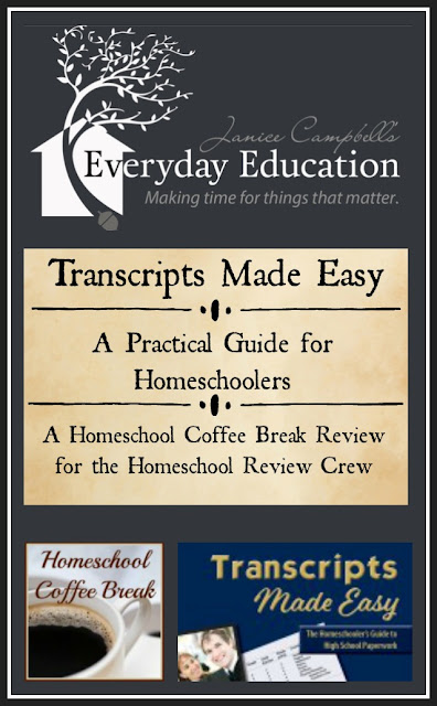 Transcripts Made Easy - A Practical Guide for Homeschoolers (A Homeschool Coffee Break Review) on Homeschool Coffee Break @ kympossibleblog.blogspot.com