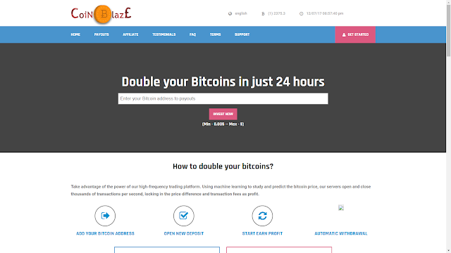 Scam Alert: Coinblaze.org - Checked and Monitored in a Week