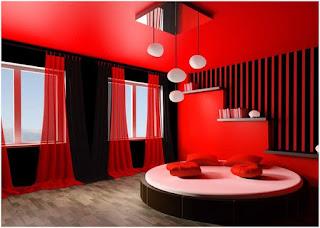 Dekorasi Kamar Tidur Rumah Minimalis Warna Merah Desain Menarik Dan Menakjubkan