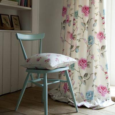cortina floral