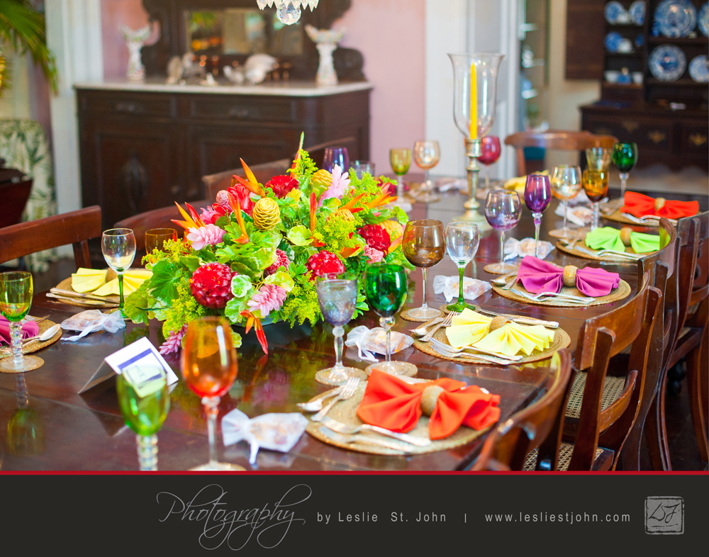 Dining Table at Fisherpond Great House Set For A Wedding