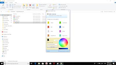 Carpetas de colores en windows 10
