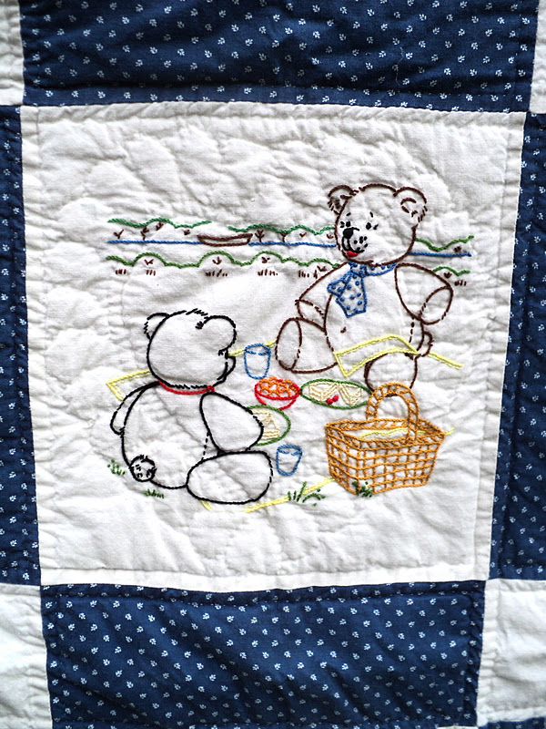 Teddy Bear Quilt - Knitionary