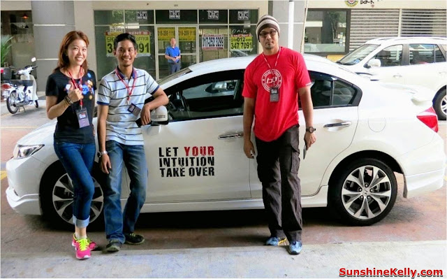 Honda Blogger Drive 2013 Group 2 Sunshine Kelly, Farid Laham& Ben Ashaari