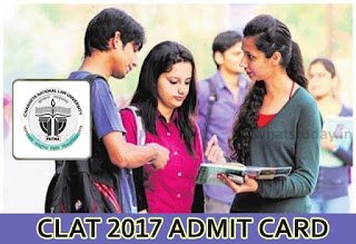 CLAT 2017 Admit Card Download,clat.ac.in CLAT Hall Ticket 2017