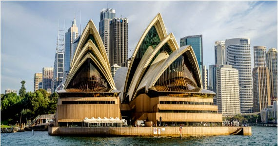 Plan D'opéra De Sydney, Autocad Dwg  Book Batiment