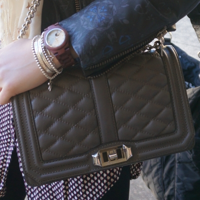 JORD cora purpleheart watch Rebecca Minkoff quilted love bag | AwayFromTheBlue