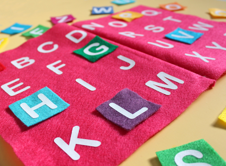 DIY this cute book to teach kids their alphabet