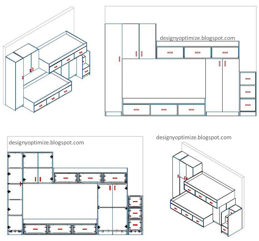 Dise o de muebles madera planos y dise o juego de cuarto for Planos y diseno de muebles