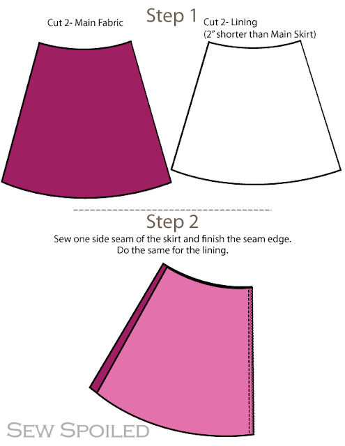 Aline Skirt Pattern 74
