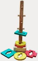 Mainan Kayu Edukasi Menara Kunci