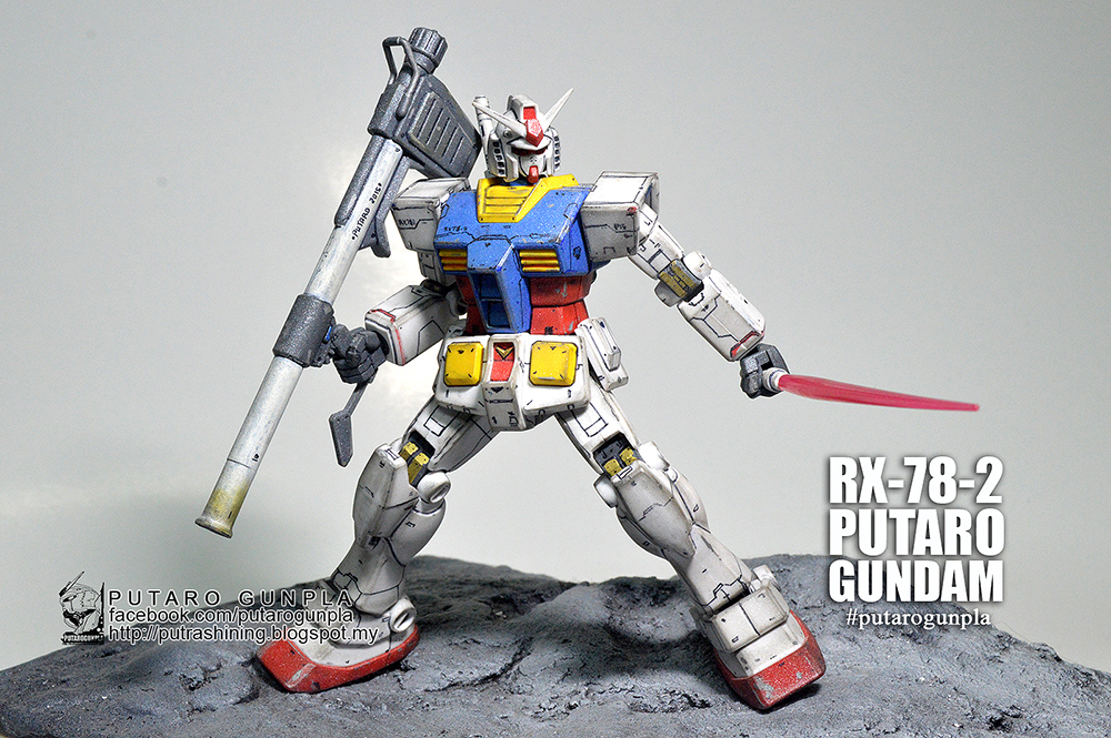 HGUC 1/144 RX-78-2 GUNDAM Custom Paint by Putra Shining