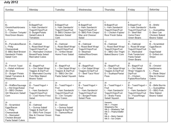monthly meal planning - Minimfagency - sample planning calendar