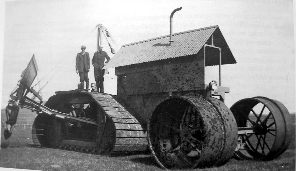 Just A Car Guy: 1949 harvester ditcher tractor with ditching