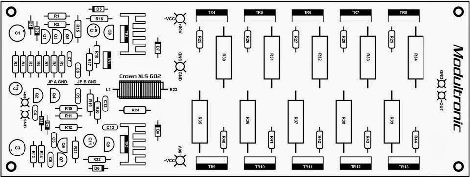 DK Tech PCB Audio Power AMPLIFIER: POWER AMP PART II