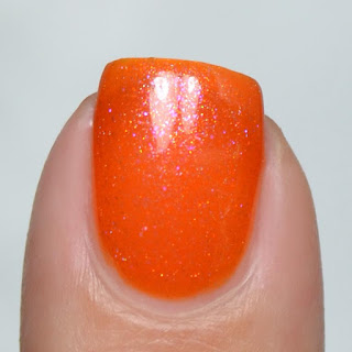 orange jelly nail polish with shimmer