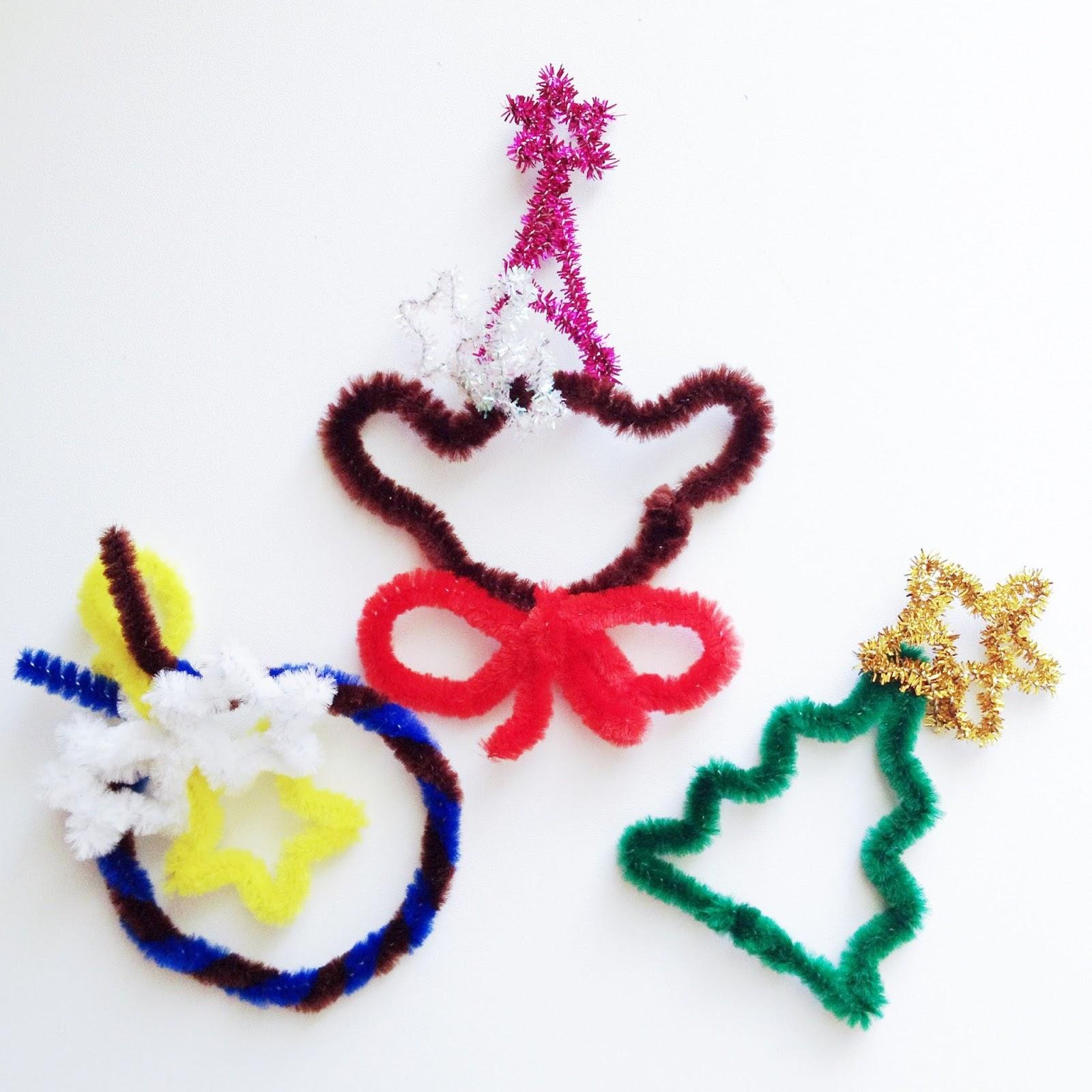 yukamila art: Pipe Cleaner Crafts: Christmas Ornaments 2013