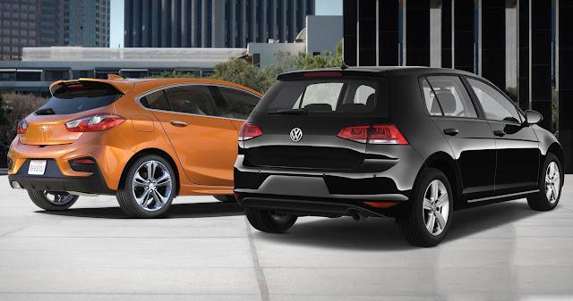 Carro alemão (Golf) x carro americano (Cruze)