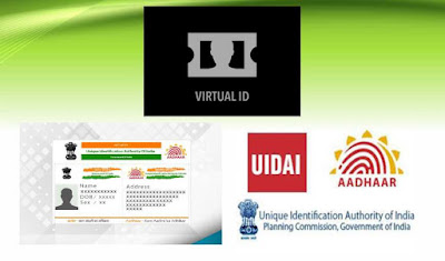 aadhar card 16 digit virtual id token