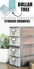 How to give an industrial farmhouse look to Dollar Tree storage