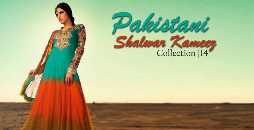 09e3a3bd60 After the getting lots of request from our valuable visitors, yet again we  have brought Exclusive range of Pakistani Shalwar Kameez 2014 Collection.