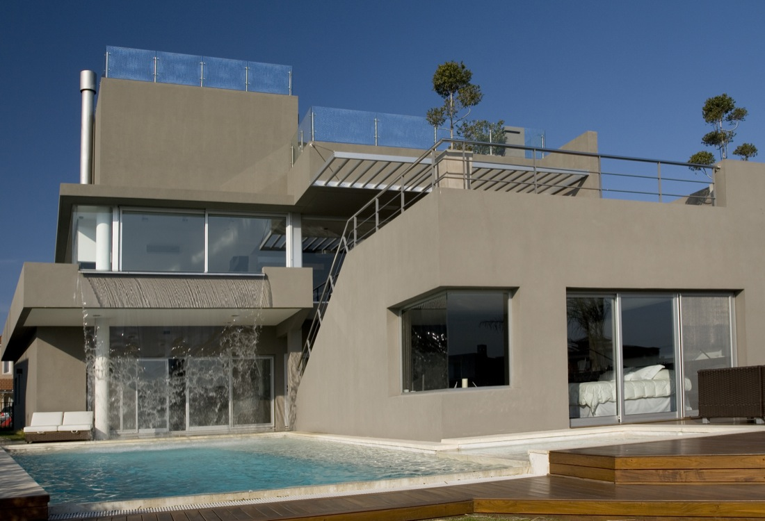 Welche Fassadenfarbe Incredible Modern Waterfall House By Andres Remy