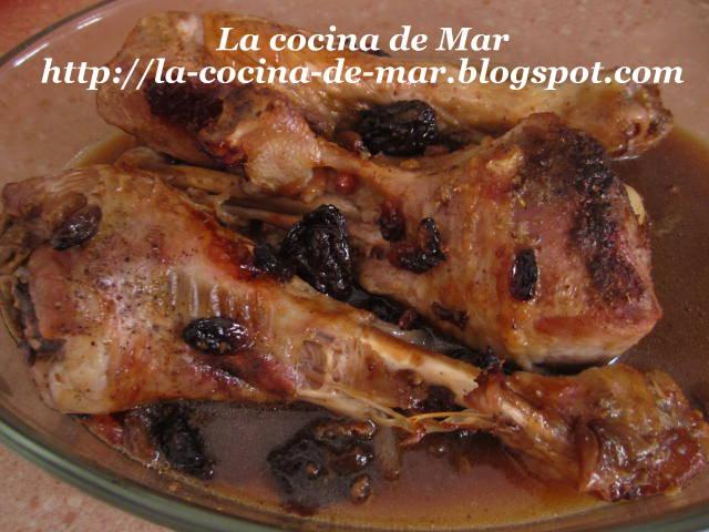 La cocina de mar muslos de pavo con ciruelas y pasas - Carne con ciruelas pasas ...