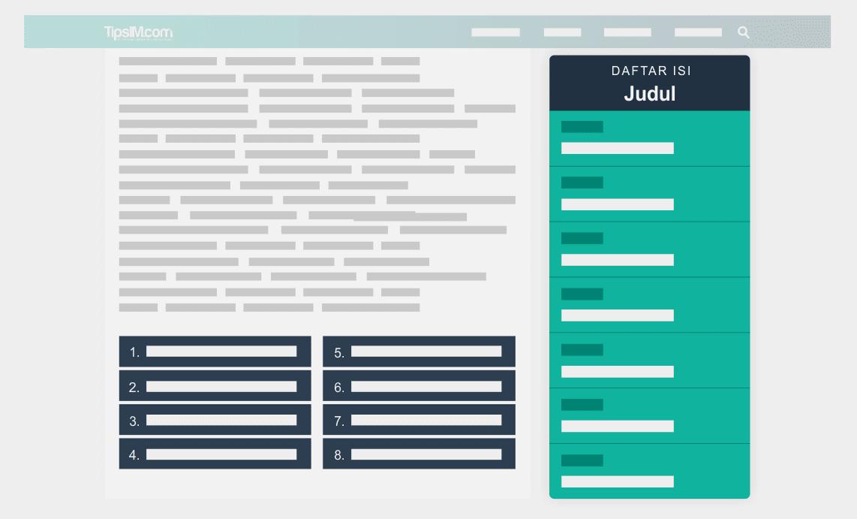 Cara Membuat Multiple Pages di Postingan Blog (Pagination Lengkap dengan Daftar Isi ala TipsIM)