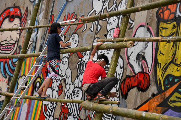 Tamawan Village Making of a Graffitti Mural Baguio City Philippines 72