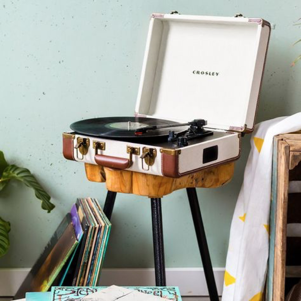 Portable retro turntable
