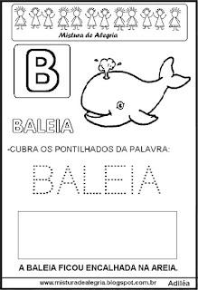 Bichonário desenho de baleia