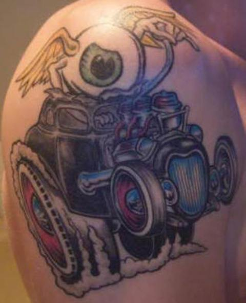 Tattoo Designs: Car Engine Tattoo Designs