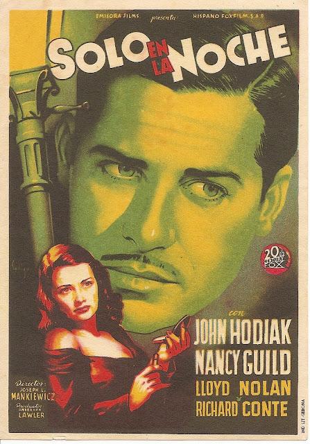 Programa de Cine - Solo en la Noche - John Hodiak - Lloyd Nolan