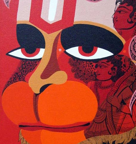 Why the Lord Hanuman is always depicted in Red/ Orange