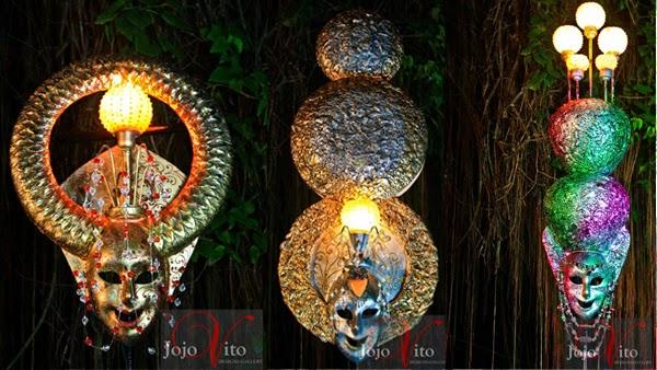 Jojo Vito lighting design - designer lights - outdoor lighting - Bacolod Masskara Festival - fiberglass masks - Bacolod decors - home decors - lamps - lighting fixtures