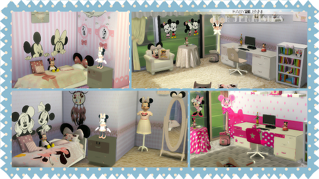My sims 4 blog mini mouse bedroom set 19 objects by faby jennisims - Mini mouse bedroom ...