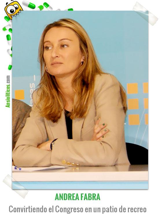 Chiste de Política Andrea Fabra grita que se jodan