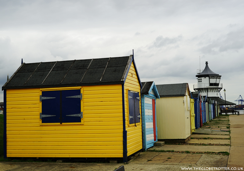 Beach huts at Harwich Seafront