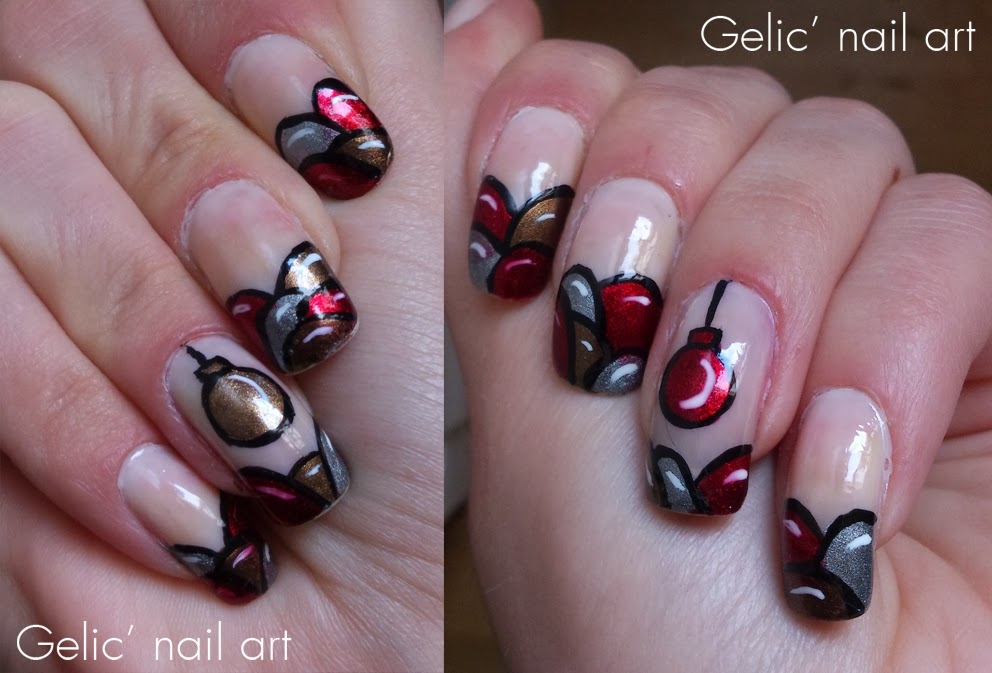 christmas ornament nail art - photo #4