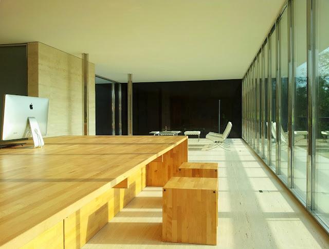 tavolo lamellare di faggio con sedute