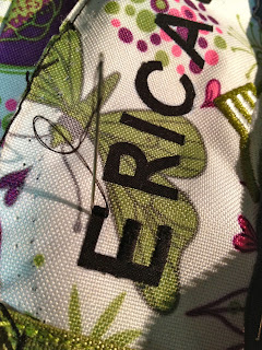 use satin stitch to stitch over letters