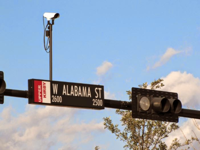 2600-2500 WEST ALABAMA ST - UPPER KIRBY (red-white street name signage)