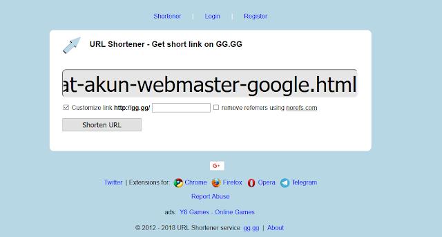 Cara Memperpendek/Shorten URL Postingan dengan Mudah