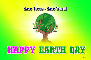 Save World Save Trees Earth day Greetings Globe HD Images.