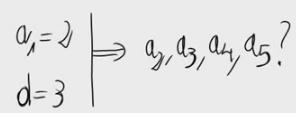 1. Términos de una progresión aritmética 1