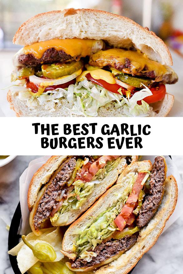 The Best Garlic Burgers EVER