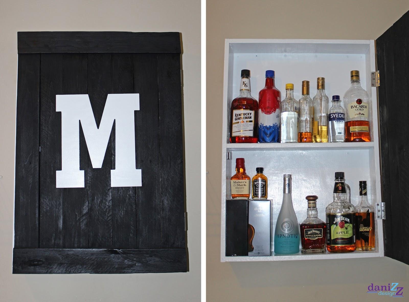 Good Hanging Liquor Cabinet