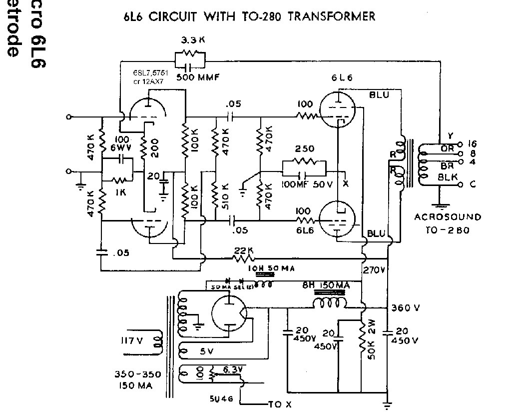 50 Watt Tube Power Amp Schematic