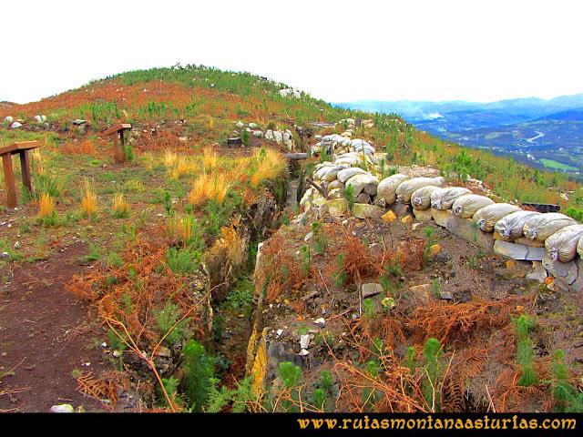 Rutas Montaña Asturias: Trincheras en Peña Escrita