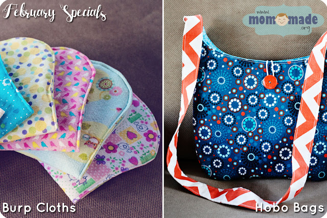 Burp Cloths and Hobo Bags on Sale at Mom-Made